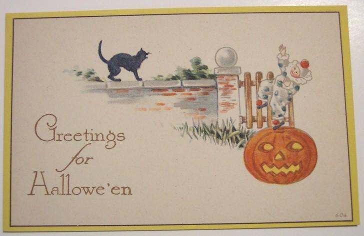 Postal Halloween retro 036