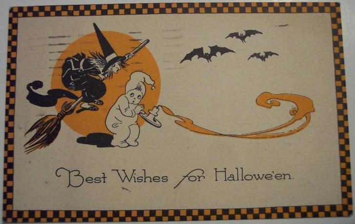 Postal Halloween retro 037