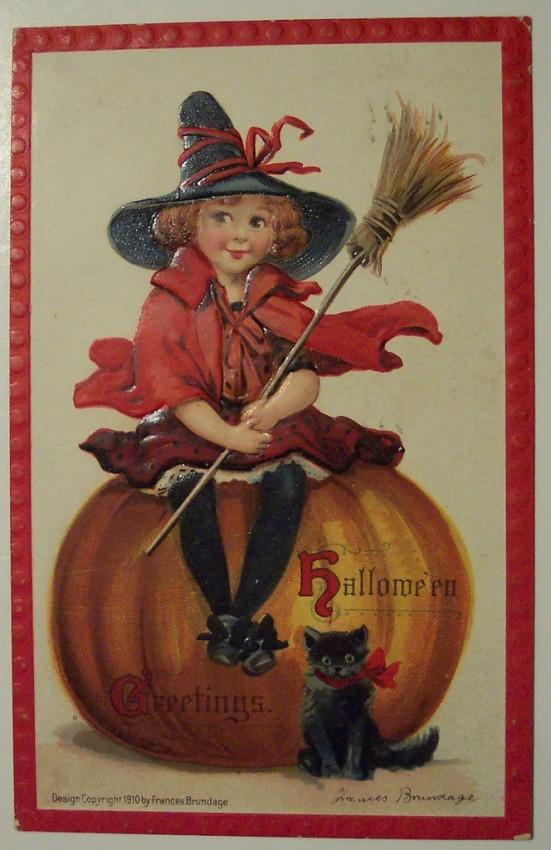 Postal Halloween retro 038
