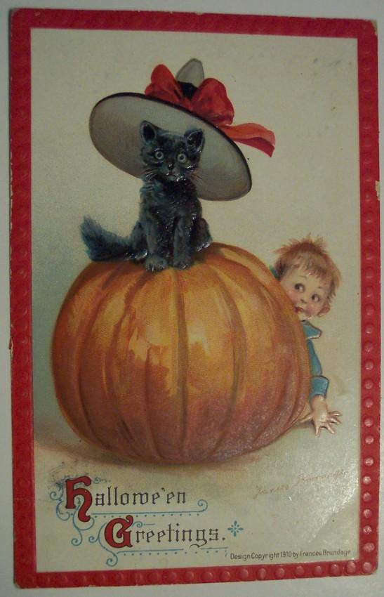 Postal Halloween retro 039