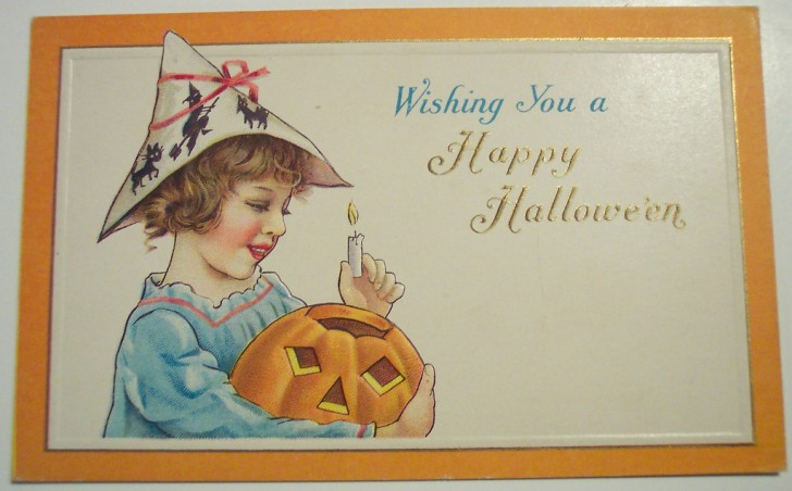 Postal Halloween retro 041