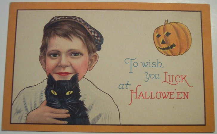 Postal Halloween retro 042