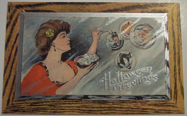 Postal Halloween retro 043