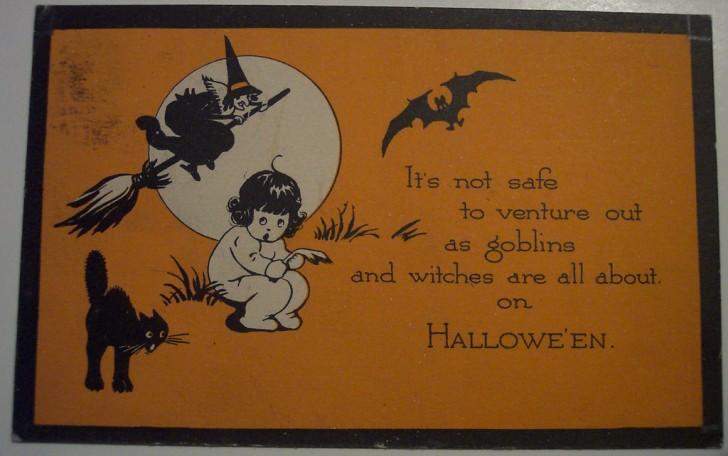 Postal Halloween retro 044