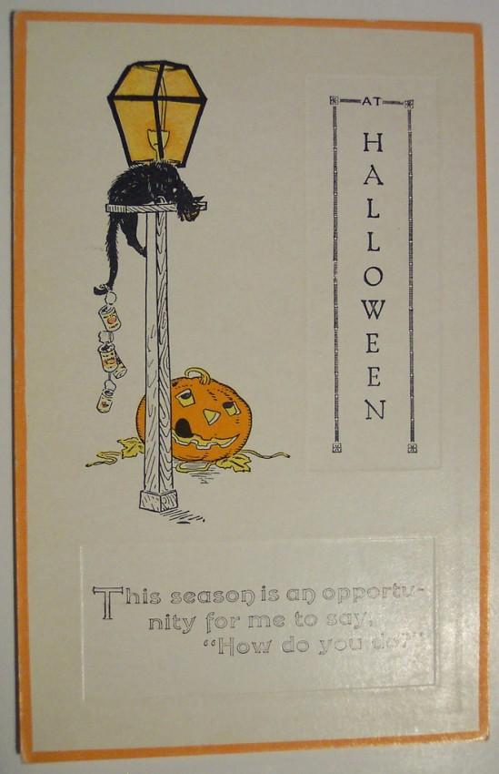 Postal Halloween retro 045