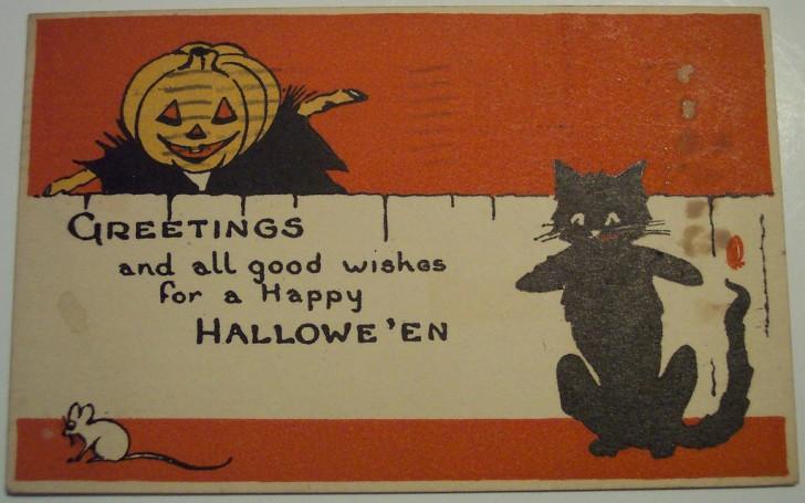 Postal Halloween retro 046