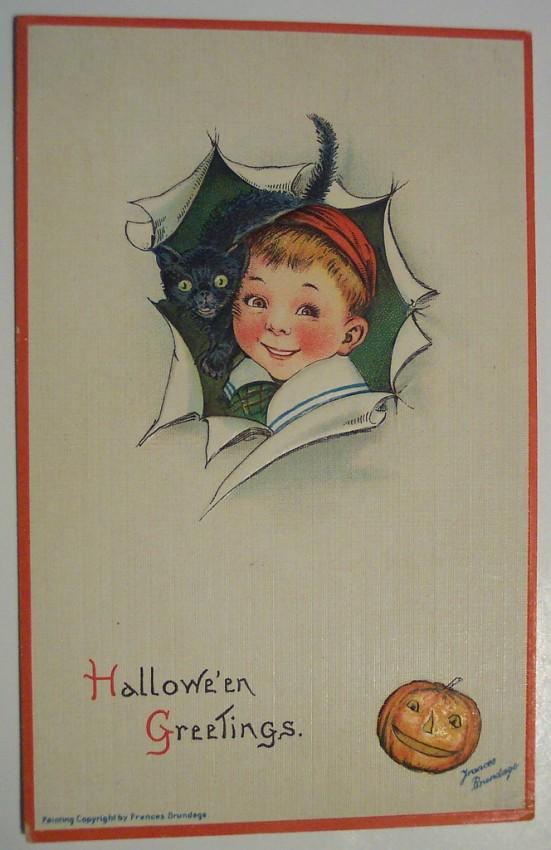 Postal Halloween retro 047