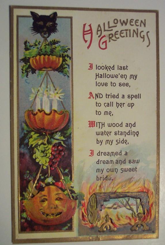 Postal Halloween retro 049