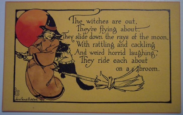 Postal Halloween retro 051