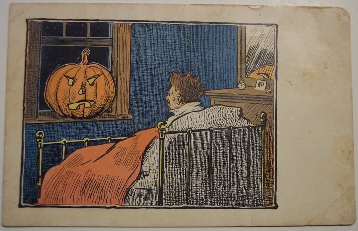 Postal Halloween retro 052