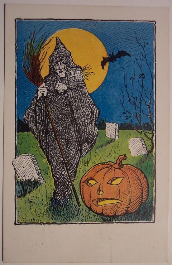 Postal Halloween retro 053