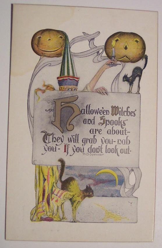 Postal Halloween retro 057