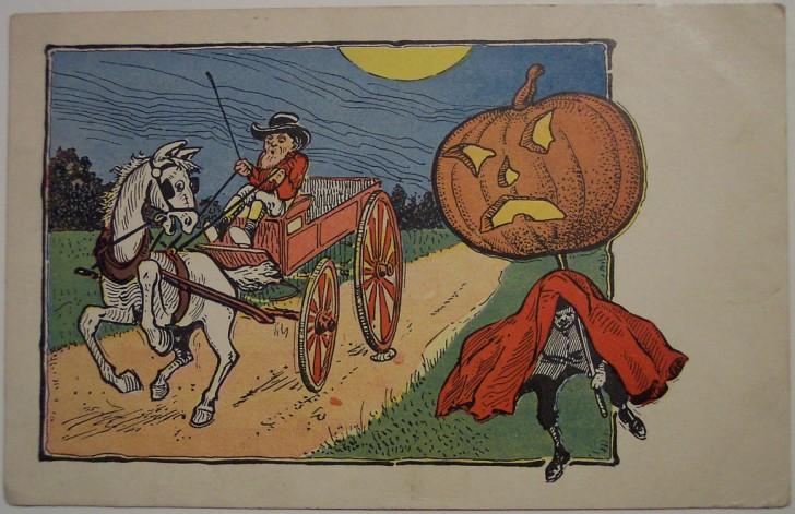 Postal Halloween retro 059