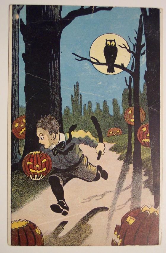 Postal Halloween retro 060