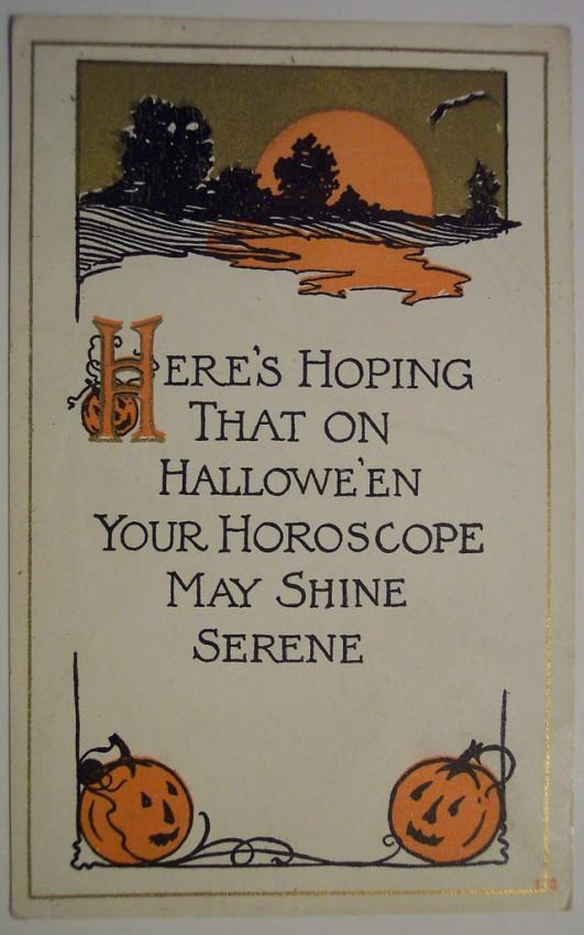 Postal Halloween retro 061