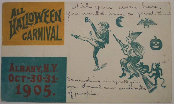 Postal Halloween retro 062