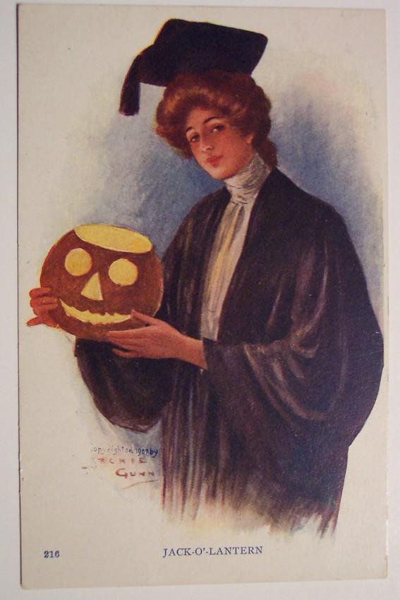 Postal Halloween retro 063