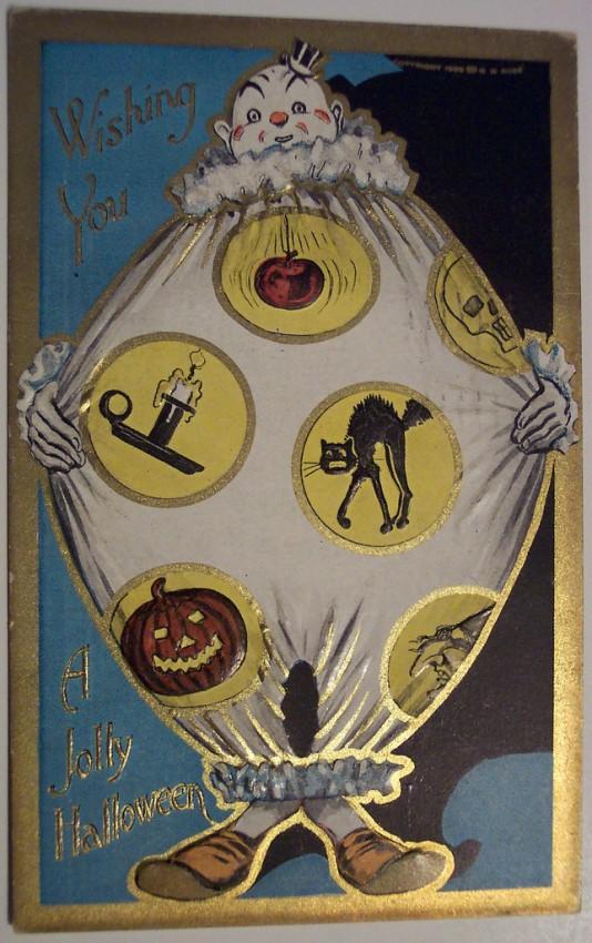 Postal Halloween retro 065