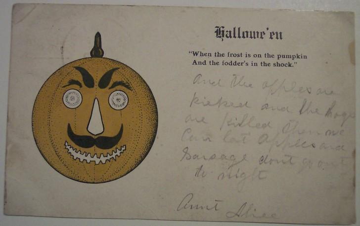 Postal Halloween retro 068