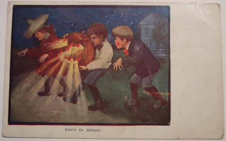 Postal Halloween retro 069