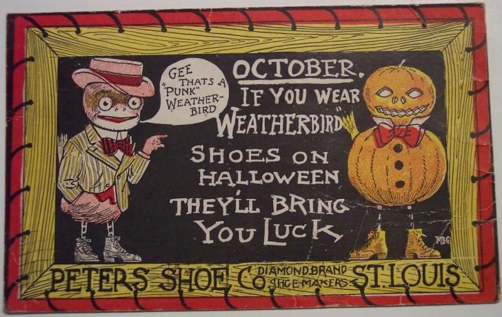 Postal Halloween retro 071