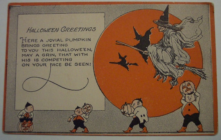 Postal Halloween retro 073