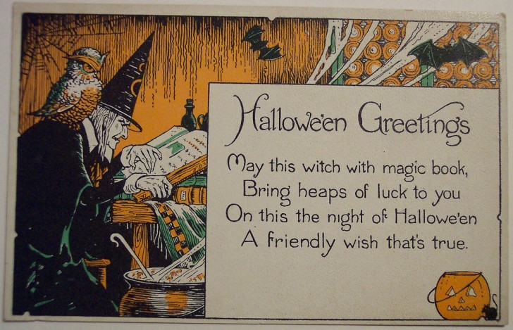 Postal Halloween retro 075