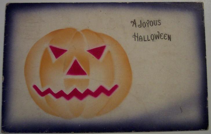 Postal Halloween retro 076
