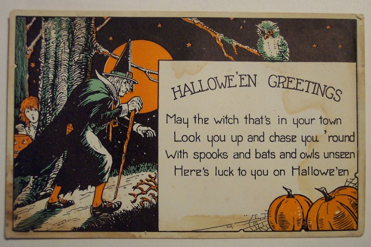 Postal Halloween retro 077