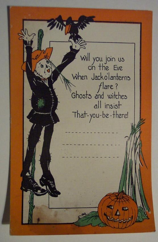 Postal Halloween retro 078