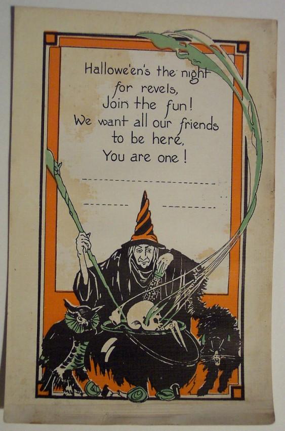 Postal Halloween retro 079