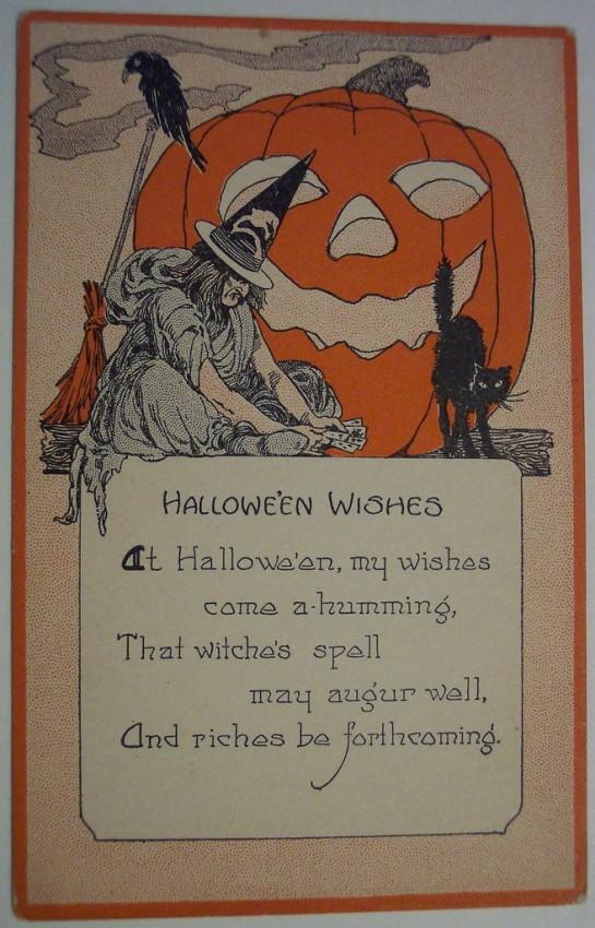 Postal Halloween retro 085