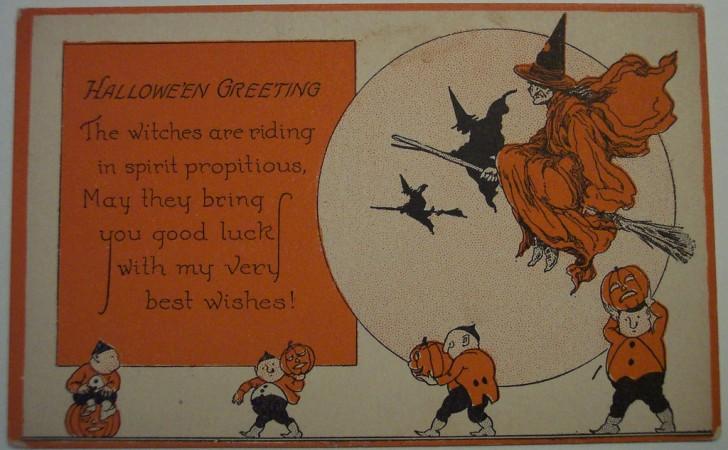 Postal Halloween retro 086