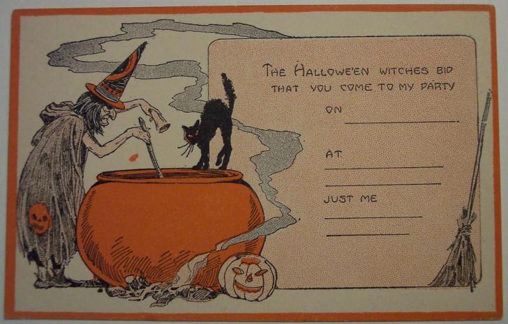 Postal Halloween retro 088