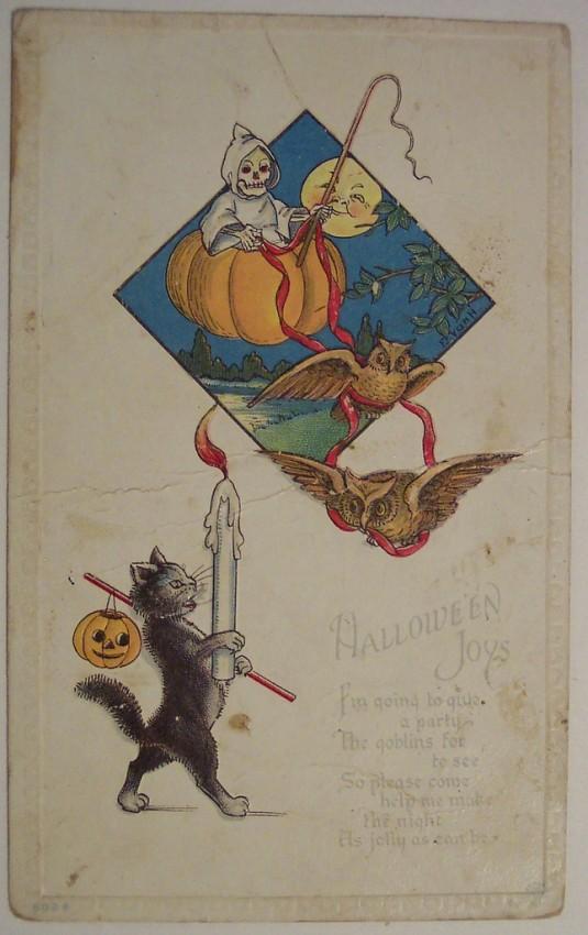 Postal Halloween retro 089