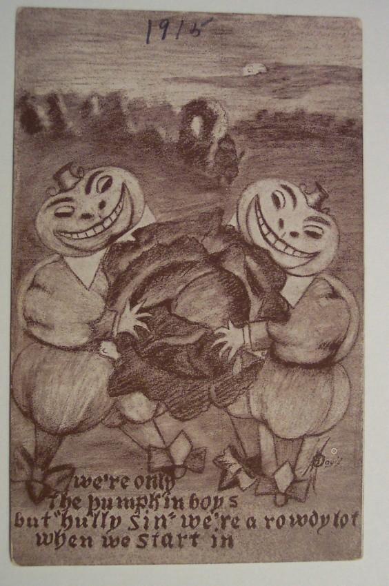Postal Halloween retro 091