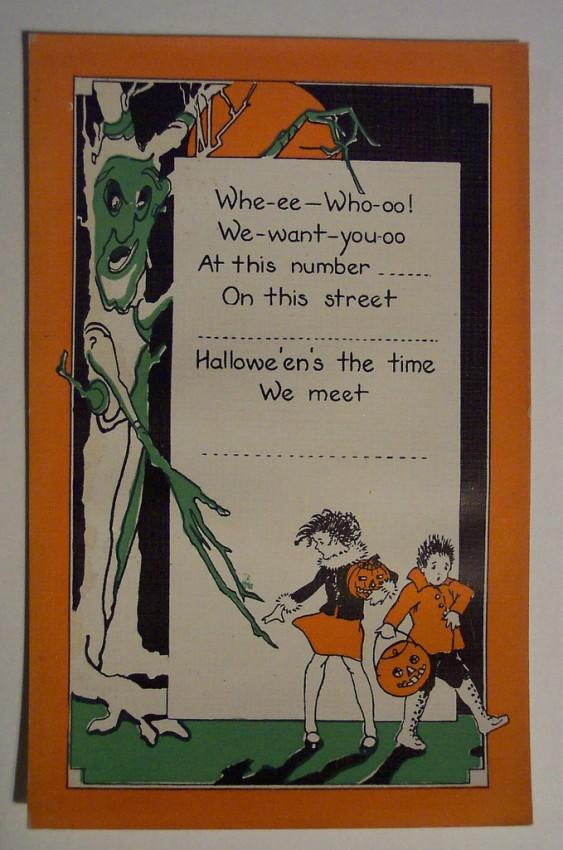 Postal Halloween retro 092