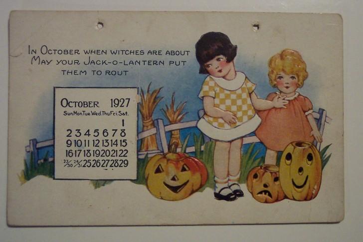 Postal Halloween retro 095