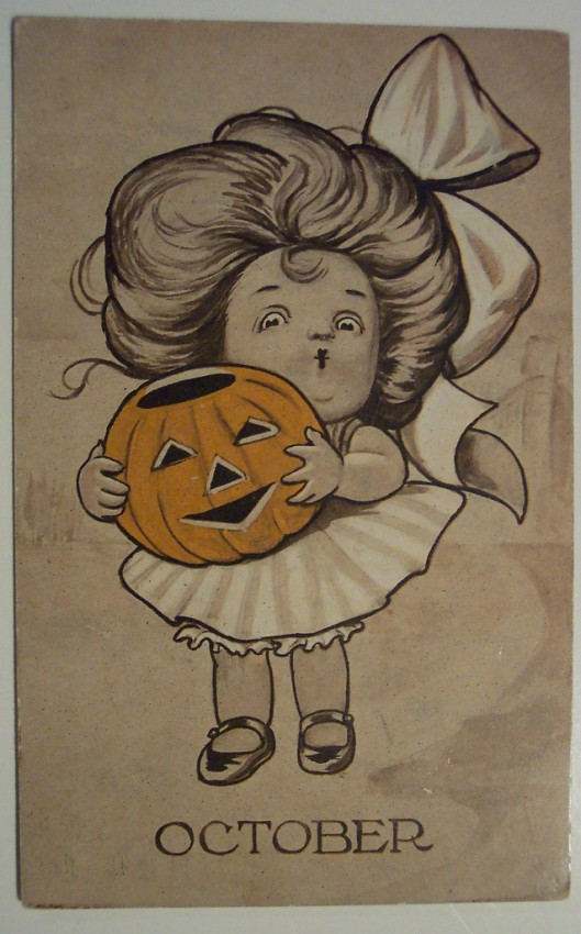 Postal Halloween retro 096