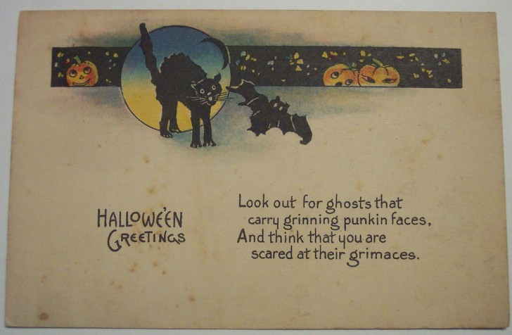 Postal Halloween retro 103