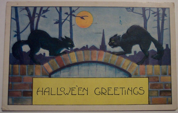 Postal Halloween retro 105