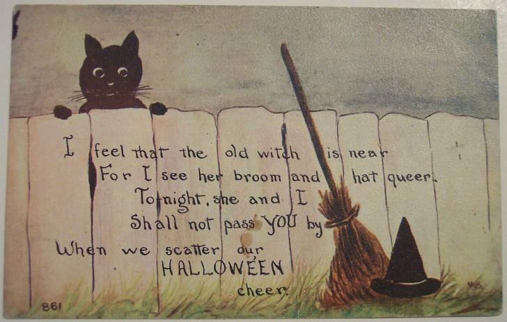 Postal Halloween retro 109