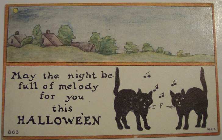Postal Halloween retro 110