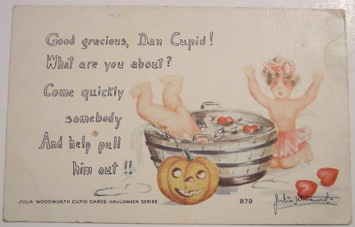 Postal Halloween retro 112