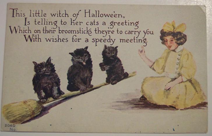 Postal Halloween retro 113
