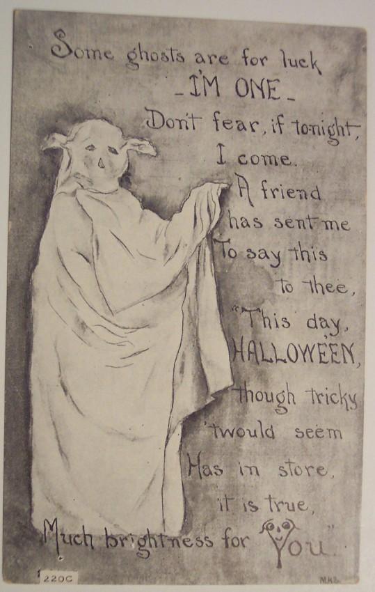 Postal Halloween retro 114