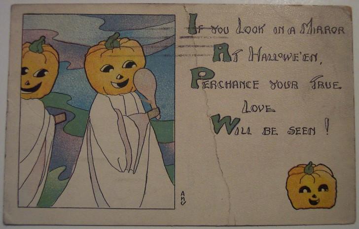 Postal Halloween retro 115