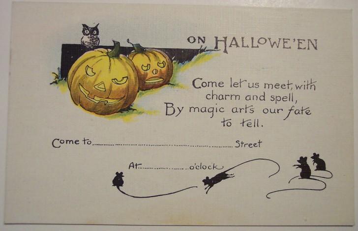 Postal Halloween retro 116