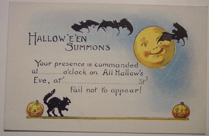 Postal Halloween retro 118