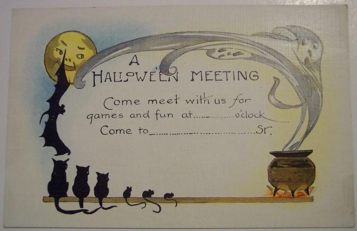 Postal Halloween retro 119